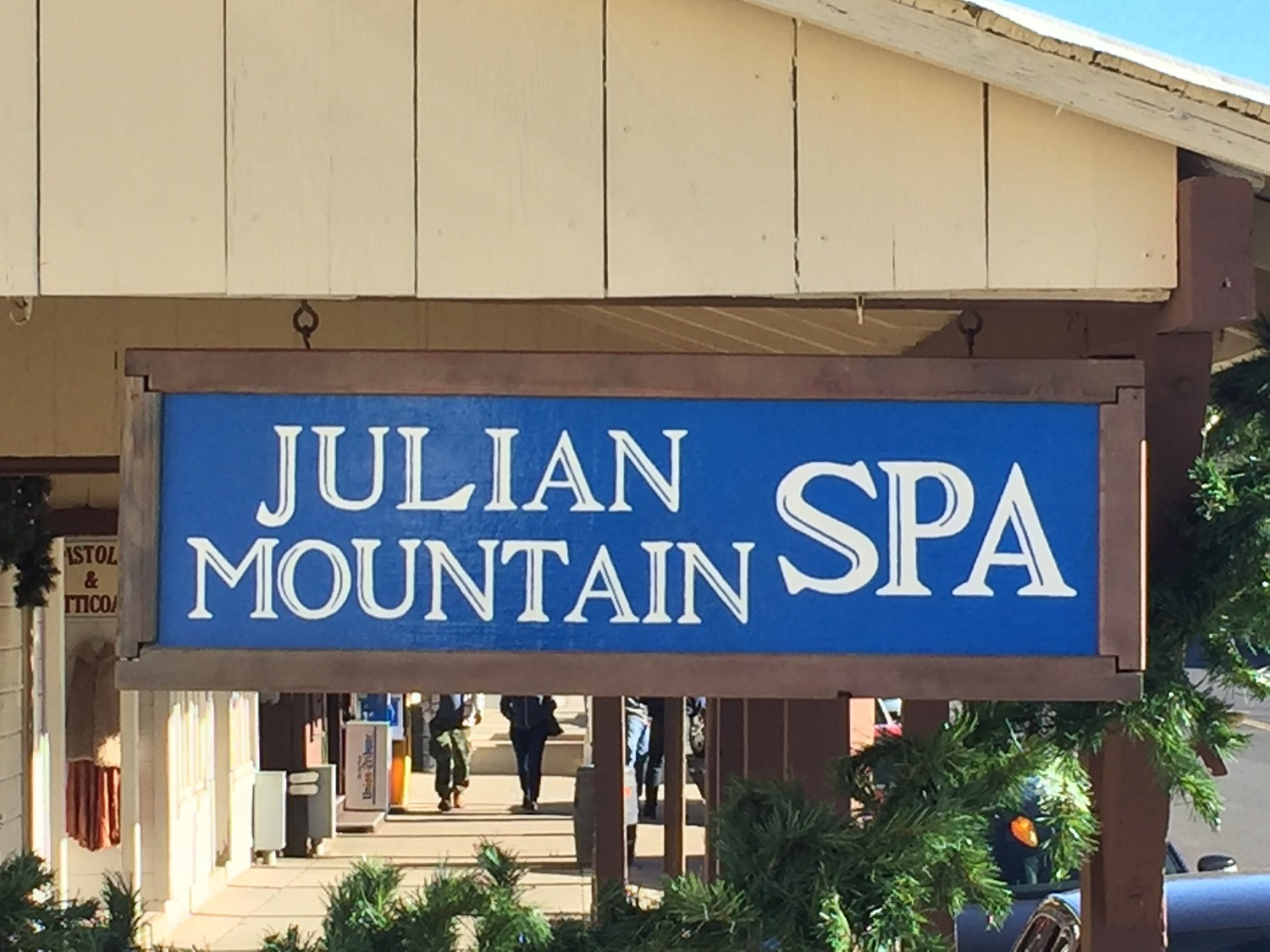 Signage at Julian Mountain Spa - Day Spa San Diego