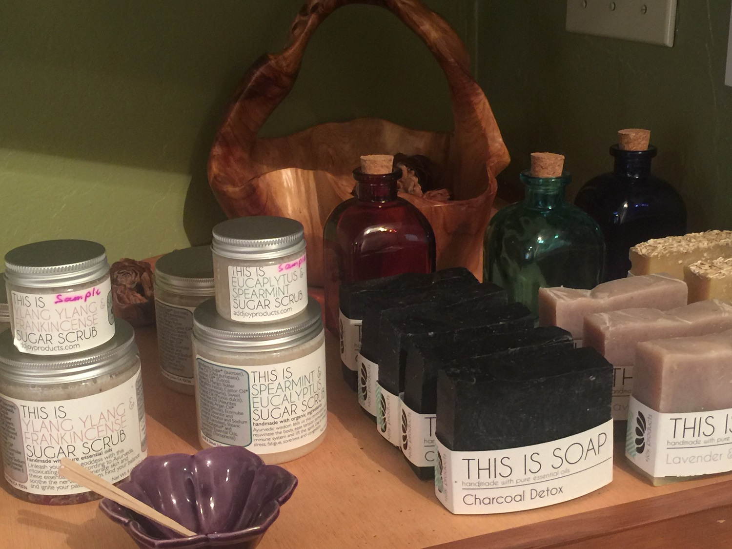 Spa products at Julian Mountain Spa - Day Spa San Diego